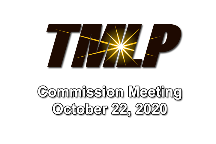 TMLP Commission Meeting – Thursday, October 22, 2020